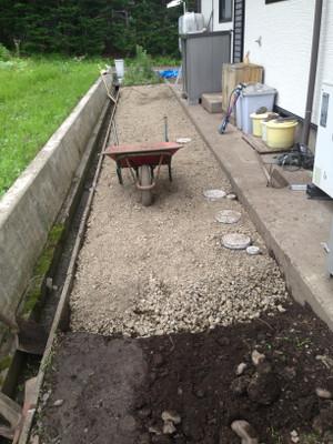 土間コンクリート工事 長野市戸隠で土間コンクリート工事