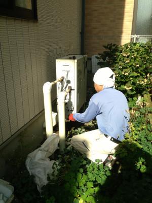 給湯器取替工事 長野市青木島町で石油給湯器取替工事