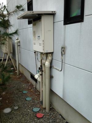 給湯器取替工事 須坂市豊島でガス給湯器取替工事