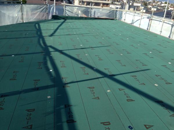 屋根葺替え工事 長野市三輪でカラー鉄板屋根葺替え工事